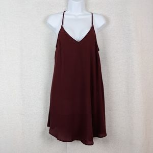 Lush red lines tank size small